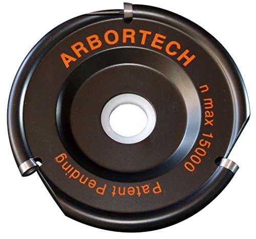 ARBORTECH Industrial Woodcarver | Ø 100 mm Hartmetall Frässcheibe für Winkelschleifer zur Holzbearbeitung