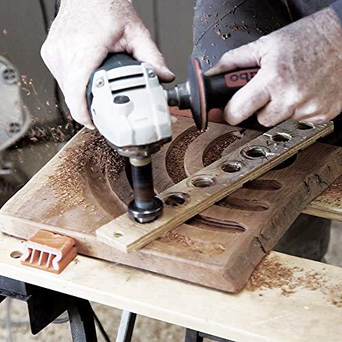 ARBORTECH TURBO Shaft   Ø 20 mm Fräs Aufsatz für Winkelschleifer zur Holzbearbeitung - 9