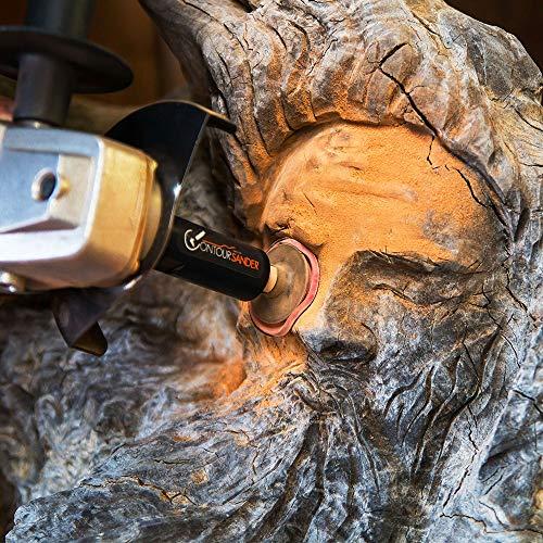 ARBORTECH Contour Sander | Ø 50 mm  Exzenterschleifer Aufsatz für Winkelschleifer zur Holzbearbeitung - 3