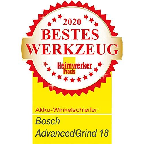 Bosch Home and Garden 06033D9001 AdvancedGrind 18 Winkelschleifer - 8