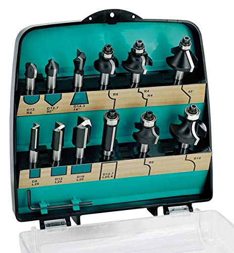 ENT 09012 12-tlg. Fräser Set Hartmetall - Schaft 8 mm - 8 verschiedene Fräser