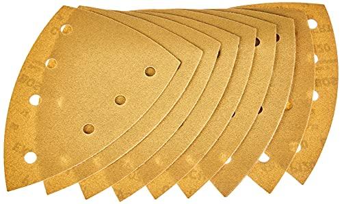 Bosch Professional Schleifpapier für Dreieckschleifer Holz und Farbe (10 Stück, 100x150 mm, Körnung 120, C470)