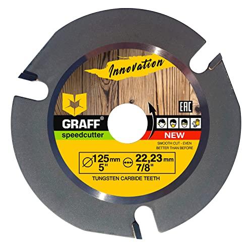 GRAFF SPEEDCUTTER Holz Sägeblatt Für Winkelschleifer 125 mm