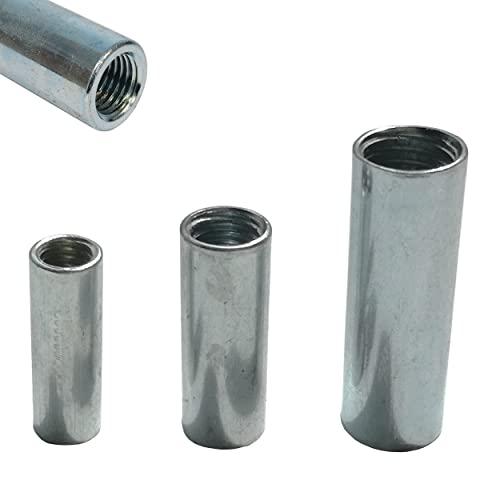 12x Stahl Gewindemuffen galvanisch verzinkt - Stabiler Gewindeeinsatz ideal als Gewindehülse, Distanzhülse, Abstandshalter (M8)