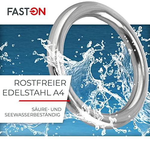 Edelstahlringe 6x35mm geschweißt - 2